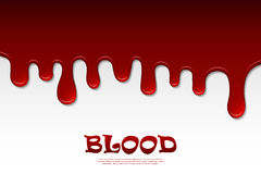 Dripping blood abstract. Flowing red liquid, dripping wet, decor border Stock Photo