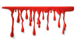 Dripping blood with clipping path Royalty Free Stock Image