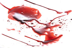 Dripping blood isolated on white royalty free stock photo