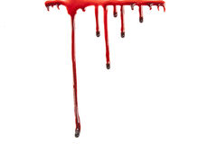 Dripping blood isolated on white stock illustration