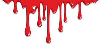 Dripping blood. Scary illustration of blood dripping on halloween Royalty Free Stock Photography