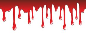 Dripping blood. Scary illustration of blood dripping on halloween Royalty Free Stock Photos