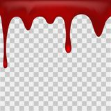 Dripping blood on transparent background. Vector Stock Image