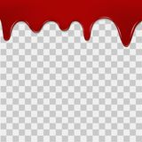 Dripping blood on transparent background. Vector Stock Images
