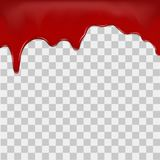 Dripping blood on transparent background. Vector Stock Photos