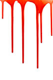 Dripping blood on white. Background Stock Image