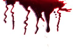 Dripping blood on white background. Dripping blood on a white background Royalty Free Stock Photos