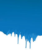 Dripping blue on white Royalty Free Stock Photo