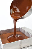 Dripping chocolate Stock Images