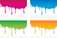 Dripping colors. Illustration of dripping colors on white background Stock Photos