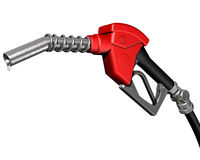 Dripping gas pump nozzle Stock Photos