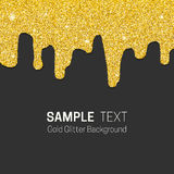 Dripping gold glitter Royalty Free Stock Photos