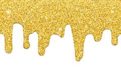 Dripping gold seamless royalty free stock photography