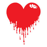 Dripping Heart Royalty Free Stock Image