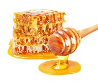 Dripping honey stock image