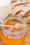 Dripping honey Stock Photo