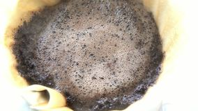 Dripping hot coffee. 4K Video of Dripping hot coffee at home stock video footage