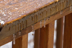Dripping Icicles Royalty Free Stock Images
