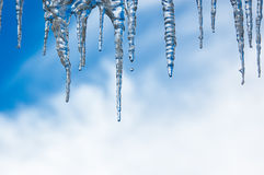 Dripping icicles Royalty Free Stock Photography