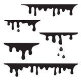 Dripping liquid, paint. Vector illustration stock illustration