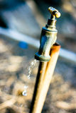 An Dripping Outdoor Tap Royalty Free Stock Image