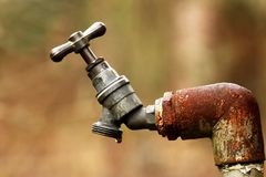 Dripping outdoor tap Stock Image