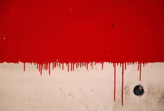 Dripping Paint Background. Dripping red paint looking like blood, on a wall Stock Photos