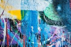 Dripping paint graffiti wall Royalty Free Stock Photos
