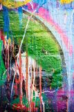 Dripping paint graffiti wall Royalty Free Stock Images