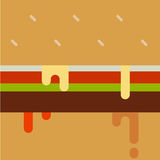 Dripping paint hamburger. Stock Image