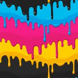 Dripping paint seamless Royalty Free Stock Image