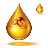 Dripping of palm oil Royalty Free Stock Photos