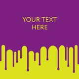 Dripping purple paint background. Design template. Place your text Stock Photography