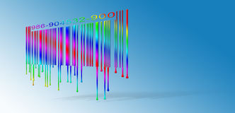 Dripping Rainbow Bar code Royalty Free Stock Photo