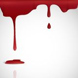 Dripping Red Blood. Vector Illustration. Eps 10 Stock Photography