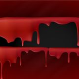 Dripping Red Blood. Royalty Free Stock Photography
