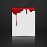 Dripping Red Blood. Royalty Free Stock Images