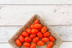 Dripping red tomatoes Royalty Free Stock Image