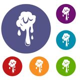 Dripping slime icons set Royalty Free Stock Photography