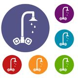 Dripping tap icons set Stock Photo
