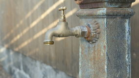Dripping Tap Old Faucet Fountain Saving Resources 4k stock video