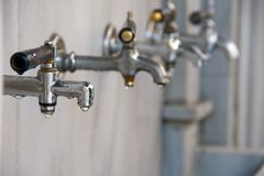 Dripping taps Stock Photography