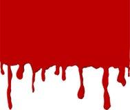drippy κόκκινο χρώματος Στοκ Εικόνες