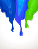 Drips of paint Royalty Free Stock Photo