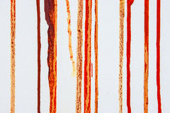 Drips of paint on canvas. Drips of color paint on a white canvas Royalty Free Stock Photography
