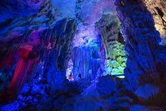 Dripstone cave Ludi Yan, China Royalty Free Stock Images