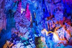 Dripstone cave Ludi Yan, China Stock Photography