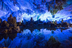 Reed flute cave, China Royalty Free Stock Photos