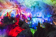 Dripstone cave (Reed flute cave) Stock Photo