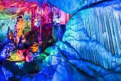 Dripstone cave (Reed flute cave) Royalty Free Stock Images